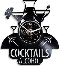 TJIAXU Modern wall clock cocktail Vinyl Record