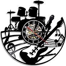 TJIAXU Music vinyl wall clock music clock musical