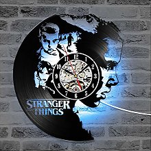 TJIAXU Stranger Thing Pattern Vinyl Record Clock