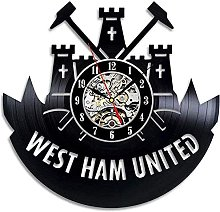 TJIAXU West Ham United Wall Clock Changing Vinyl
