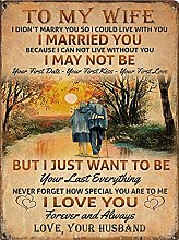 To My Wife tin sign, Love Husband Art Print,