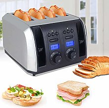 Toaster 4 Slot, Bread Toaster Grill 1750(W), with
