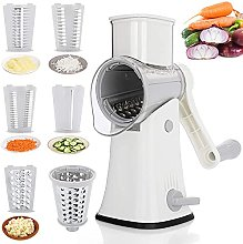 TOBEELEC Rotary Cheese Grater, Manual Vegetable