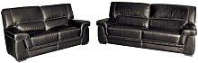 Tobin 2 Piece Sofa Set Ebern Designs Colour: Black