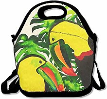 Tocan Bird Palm Leaf Ziplock Lunch Tote Bag