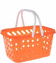 Toddmomy Kids Pretend Play Grocery Basket Plastic