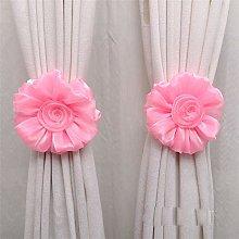 ToDIDAF 1Pair Curtain Tieback, Rose Flower Window