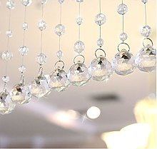ToDIDAF 1Pc Glass Bead Curtain, 1M Glass Beads