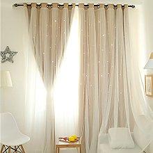 ToDIDAF 1Pc Window Curtain, Starry Sky Sheer