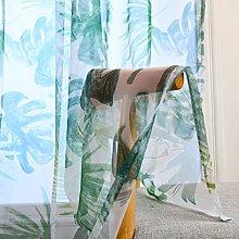 ToDIDAF 2Pcs Window Curtain Sheer Trees Curtain