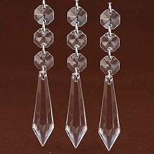 ToDIDAF 30Pcs Crystal Ornaments, Acrylic Clear