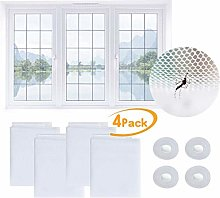 ToDIDAF 4Pcs Window Screen Nets, with Adhesive