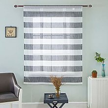 ToDIDAF Beauty Voile Roman Curtain, Short Sheer