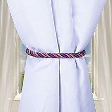 ToDIDAF Curtain Rope Tiebacks, Hand Braided Backs
