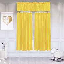 ToDIDAF Three-piece Suit Window Curtain Hanging