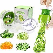 Todoxi Handheld Spiralizer Vegetable Slicer, 4 in