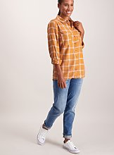 Toffee Brown Check Shirt - 26