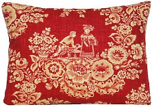 Toile Cushion Cover French Style Red Decorative