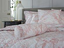 Toile De Jouy Vintage Pink Filled Bolster Cushion