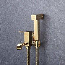 Toilet Hand Held Bidet Sprayer Polished Gold Solid