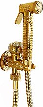Toilet Handheld Bidet Spray Gold Muslim Shattaf