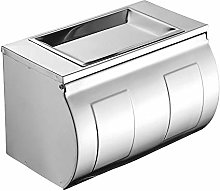 Toilet Roll Holder Silver Staple-free Rag Roll