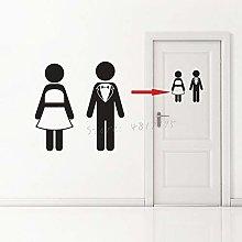 Toilet WC Sign Vinyl Sticker Bathroom Toilet Door