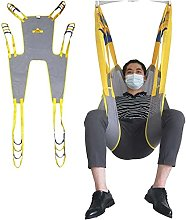 Toileting Hoist Sling, with Head Support Mesh