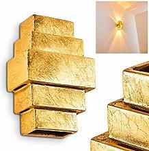 Tokia Golden Ceramic Wall Light, Indoor Fixture