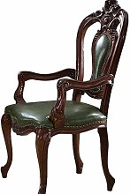 Tokyia Nordic Office Chair Carved Wooden Chair