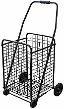 Tokyia Shopping Trolley Grocery Shopping Cart With