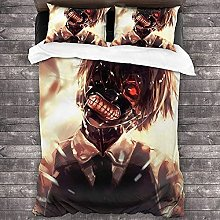 Tokyo Ghoul Bed Linen Set, 3D Print Horror TV