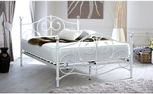 Toledo Scrolled Metal Double Bed Frame Lily Manor