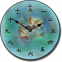 Toll2452 Japanese Koi Wall Clock