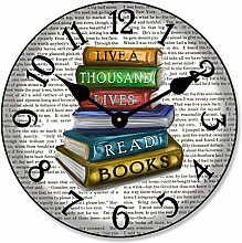 Toll2452 Library Wall Clock Gift Round Clock
