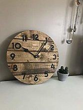 Toll2452 Modern Farmhouse Clock in Warm Coffee