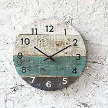 Toll2452 Pallet Wood Clock Round Reclaimed Wood