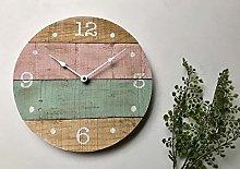 Toll2452 Round wall clock feminine decor cottage