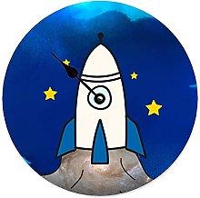 Toll2452 Tide Clock Navy Blue Rocket Beach Tide