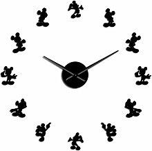 TOLYZ Cartoon Mouse Diy Giant Wall Clock Cartoon