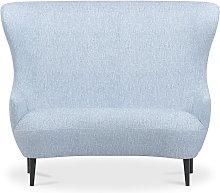 Tom Dixon - Wingback Sofa Black Leg Melange Nap