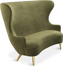 Tom Dixon - Wingback Sofa Brass Leg Cassia 41