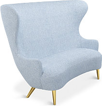 Tom Dixon - Wingback Sofa Brass Leg Melange Nap