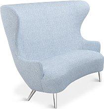 Tom Dixon - Wingback Sofa Chrome Leg Melange Nap