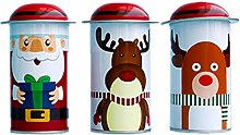 Tomaibaby 3pcs Christmas Cookie Box Candy Tin Jar