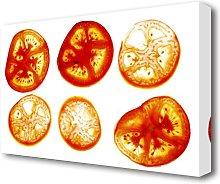 Tomato Slices Kitchen Canvas Print Wall Art East