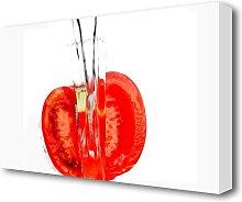 Tomato Waterfall Kitchen Canvas Print Wall Art