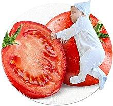Tomatoes, Kids Nursery Rug Play Mat Round Carpet