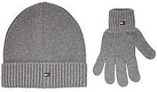Tommy Hilfiger Kids Knitted Beanie And Gloves Gift