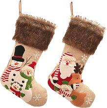 TomteNisse 2pcs Christmas Stocking Plush